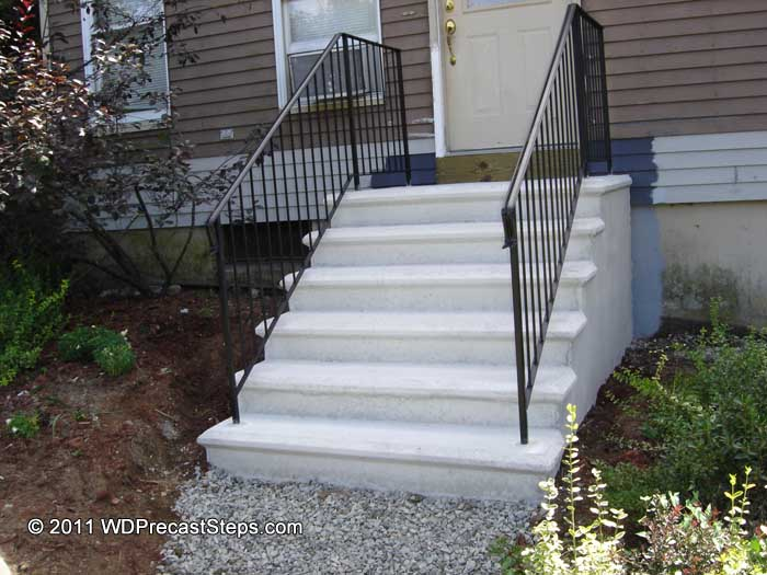... Finished Concrete Stairs In Massachusetts