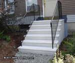 finished concrete stairs in Massachusetts