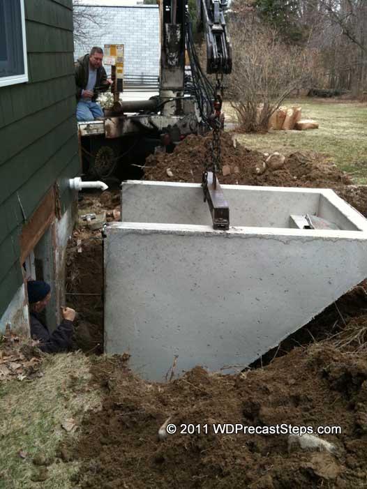 W Amp D Precast Concrete Steps Amp Bulkheads Serving